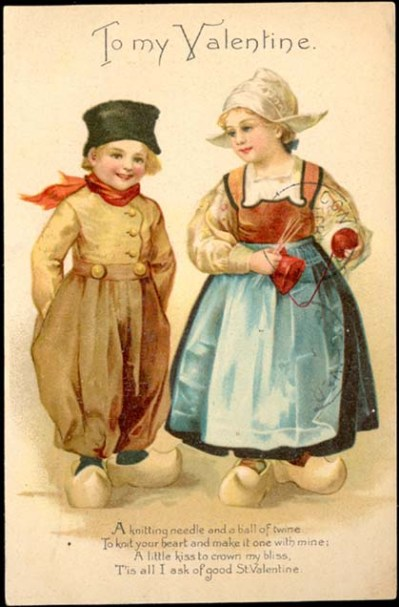 Dutch Valentine's card of two children