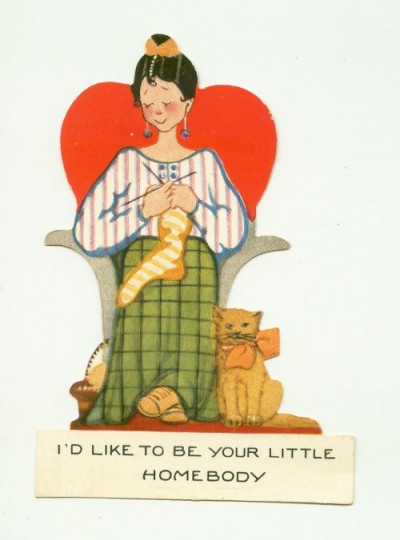 Valentine's card reading 'I'd like to be your homebody'